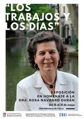 «Los trabajos y los días» Homenatge a Rosa Navarro Durán