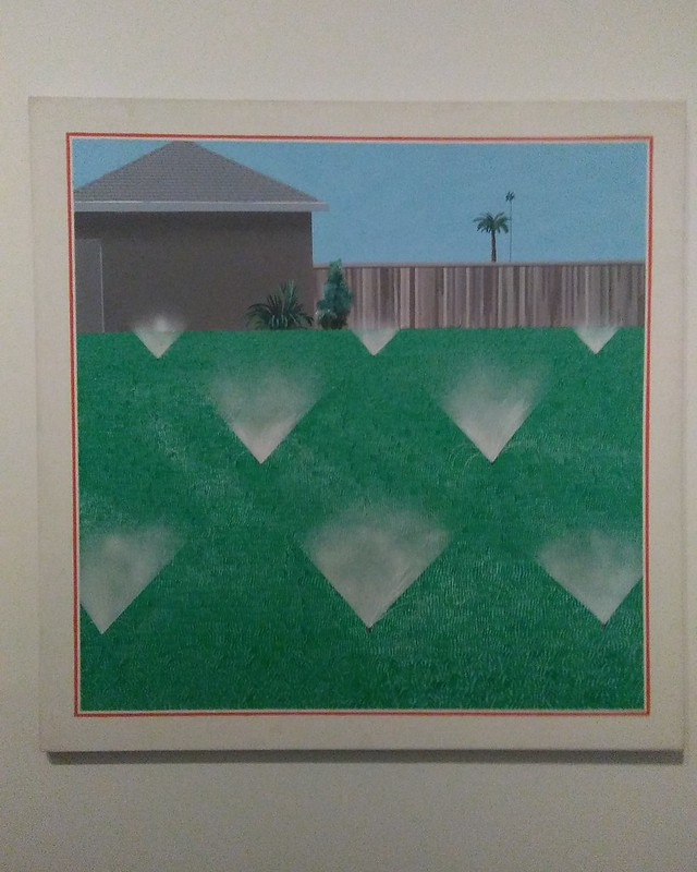 A Lawn Being Sprinkled (1967) #newyorkcity #newyork #manhattan #metmuseum #davidhockney #hockney #latergram