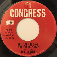 SHIRLEY ELLIS:THE CLAPPING SONG(CLAP PAT CLAP SLAP)(LABEL SIDE-A)