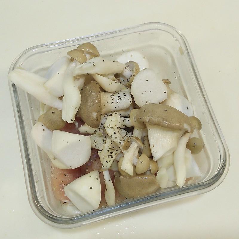 酒窩小姊懶人弄食日常-味噌菇菇雞