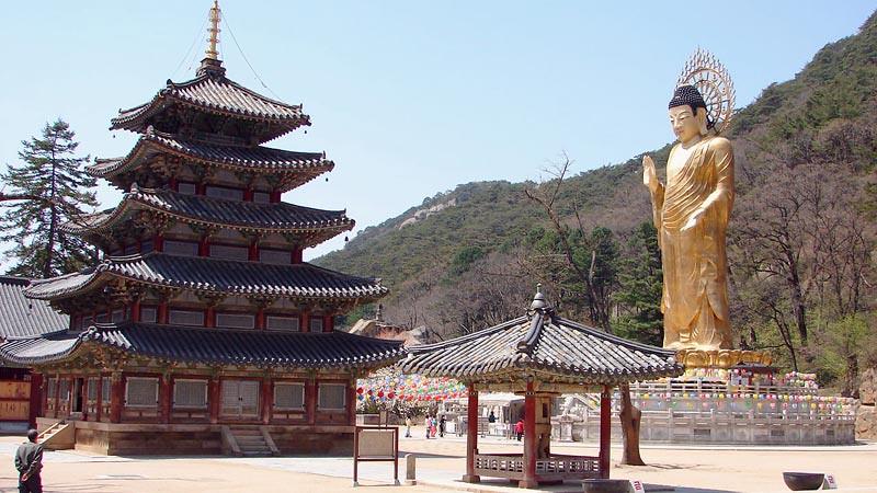 Vihara Beopju (Beopjusa) di Boeun, Chungcheong Utara.