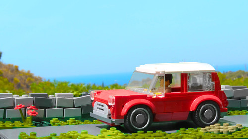 My Lego Mini Cooper in the Speed Champions style