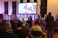 Sally Newell and Tony Gleeson launching the #StopAdani night of action in Brunswick - IMG_3095