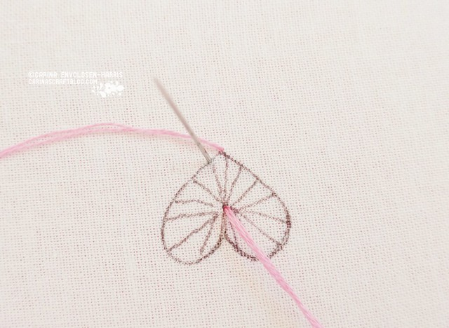 Buttonhole heart stitch tutorial