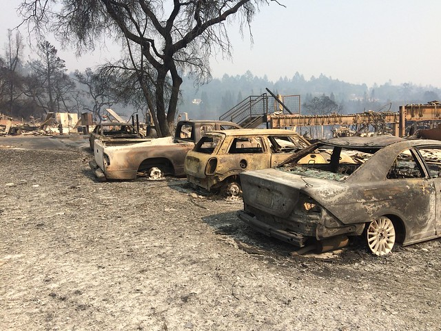 photo of California fires