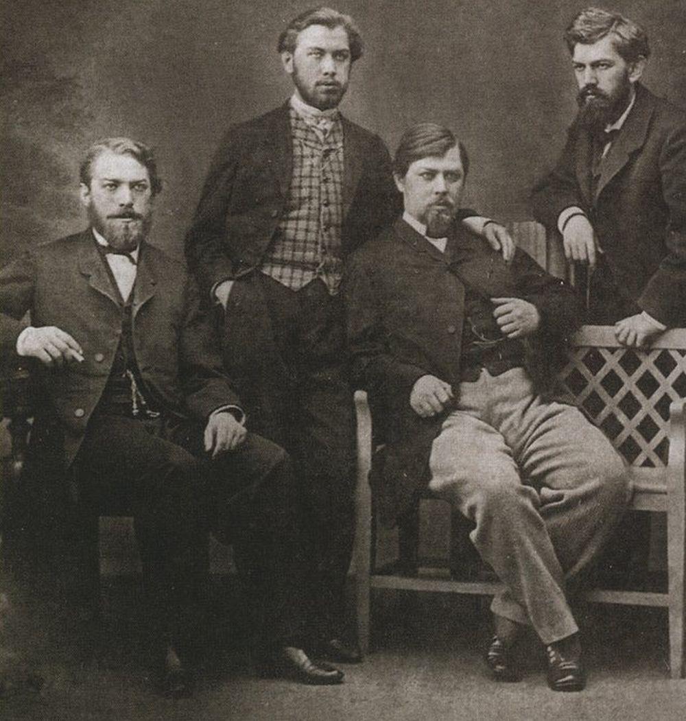 Сыновья Алексея Ивановича Хлудова: (слева направо) Иван, Егор, Михаил, Василий. Фото 1870-х гг.