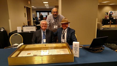 2018 April Chicago Coin Expo Chicago Coin Club table staff