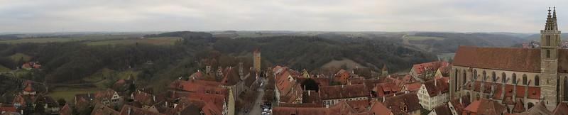 Aussicht von Rathausturm auf BurgtorIMG_8012 Panorama