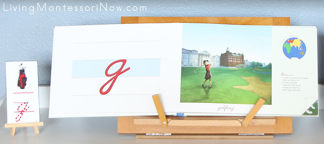 Golf Cursive G Work with Around the World from a to z