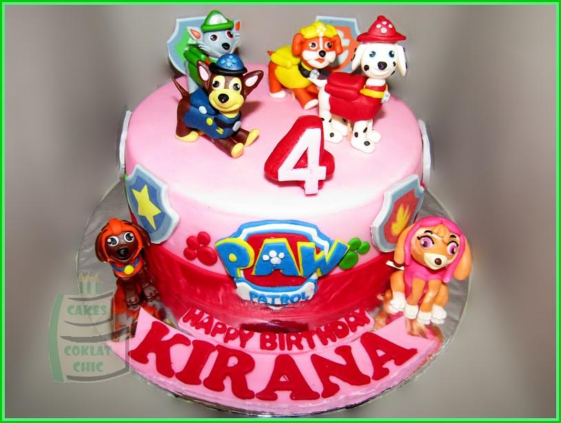 Cake Paw Patrol KIRANA 18 cm