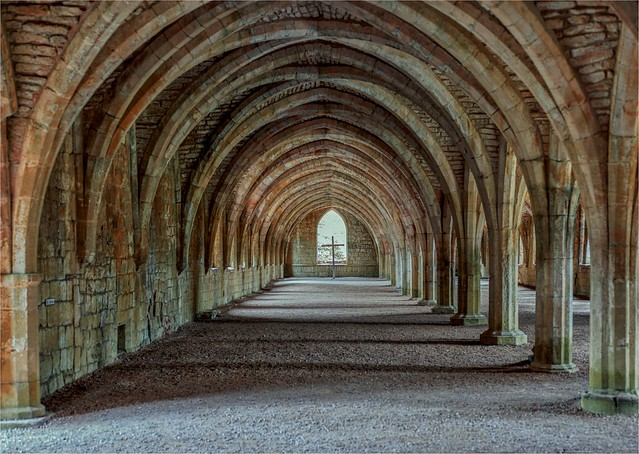 Fountains Abbey The Cloisters using natural Light Only
