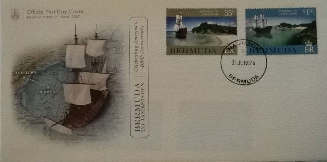 Bermuda - Scott #944-945 (2007) first day cover; image from active eBay auction [NIMC 2018]