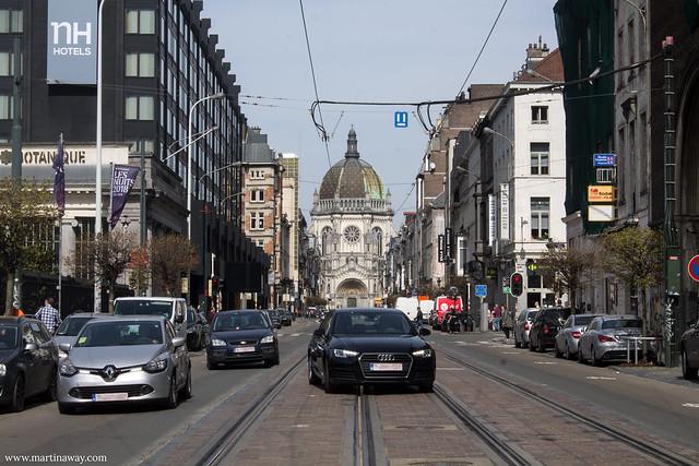Église Royale Sainte-Marie vista da Rue Royale