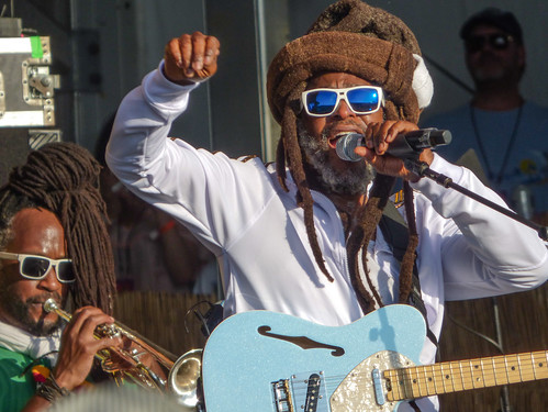 Steel Pulse on Day 1 of Jazz Fest - 4.27.18. Photo by Olivia Greene.