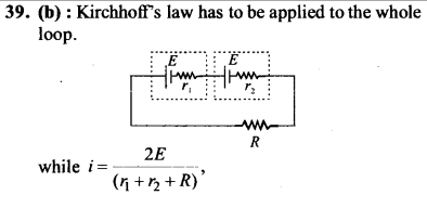 NEET AIPMT Physics Chapter Wise Solutions - Current Electricity explanation 39