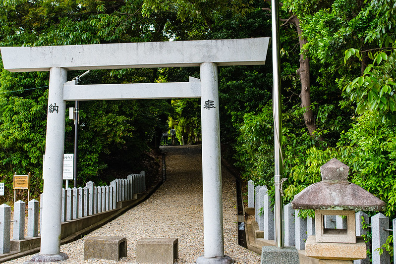 桶狭間神明社の入り口