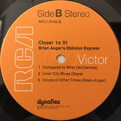 BRIAN AUGER'S OBLIVION EXPRESS:CLOSER TO IT!(LABEL SIDE-B)