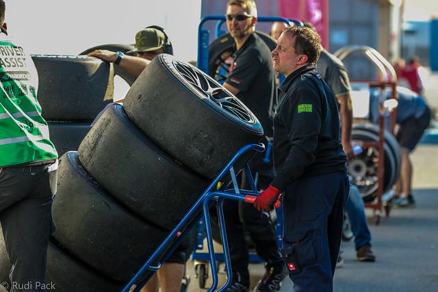 Tiring work, motor racing