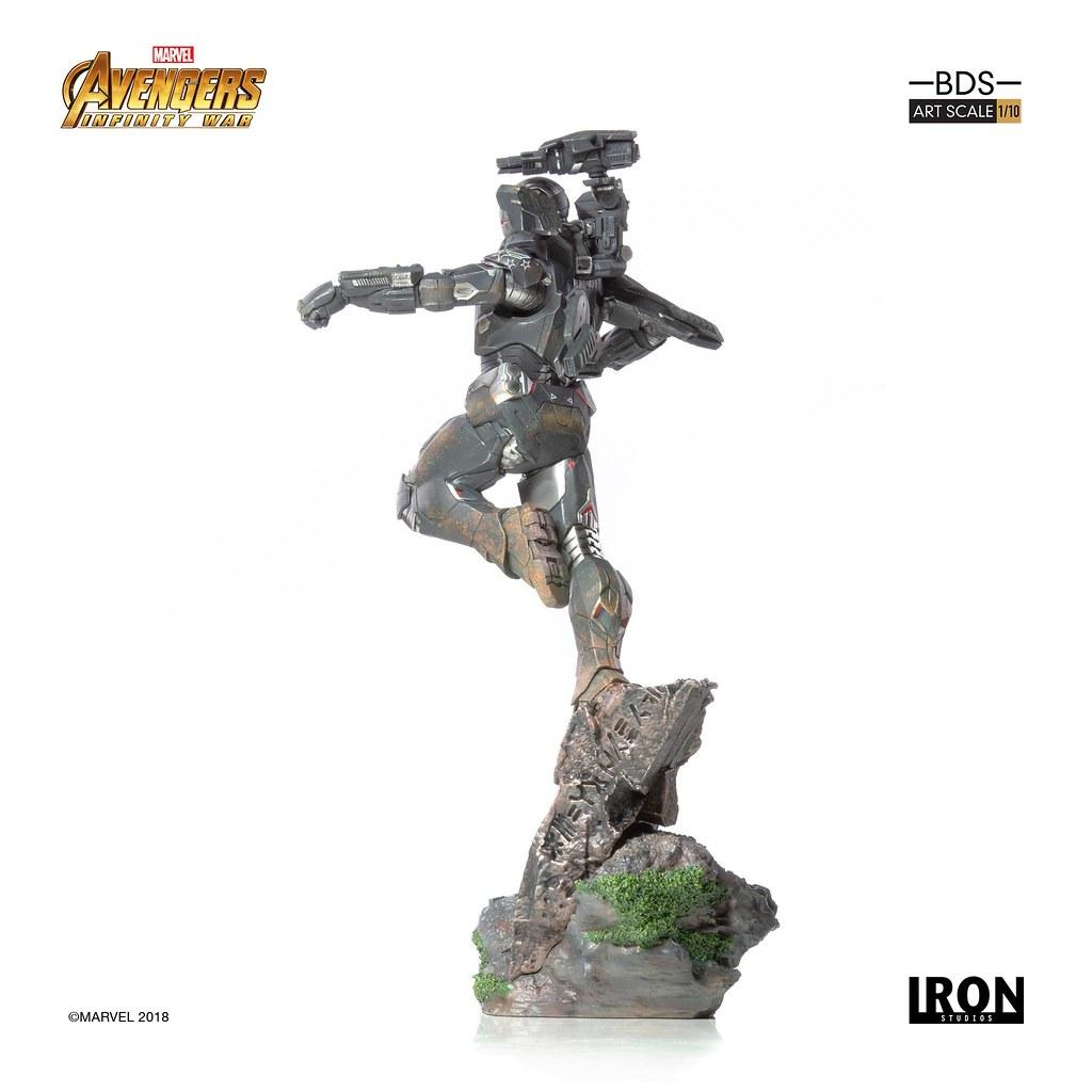 從空中給予英雄們最強大的火力支援!! Iron Studios Battle Diorama 系列《復仇者聯盟3:無限之戰》戰爭機器 War Machine 1/10 比例決鬥場景雕像作品