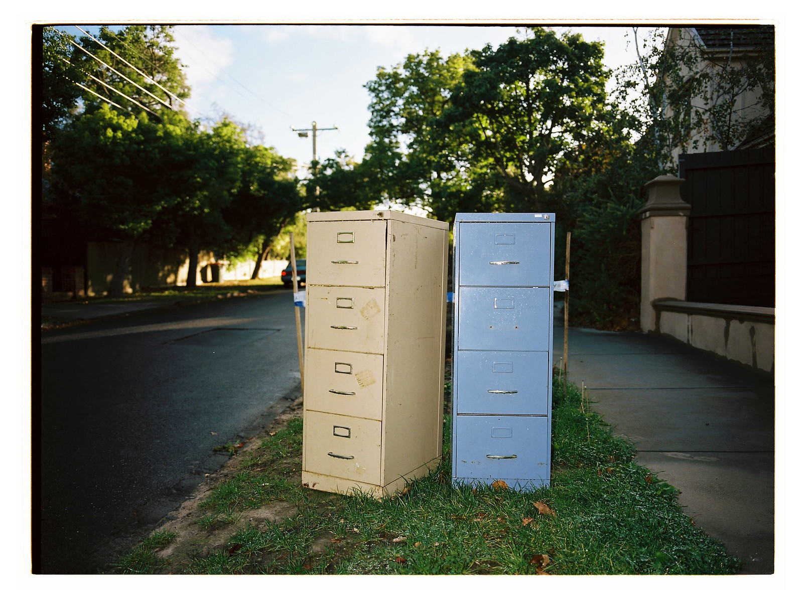 Two Filing Cabinets
