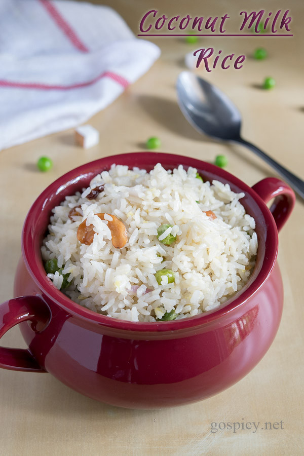 Coconut Milk Rice Recipe by GoSpicy.net