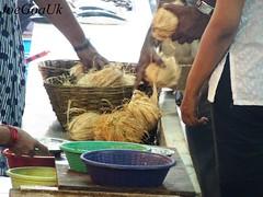 Coconut sale in Fish Market