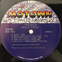 WILLIE HUTCH:THE MACK(LABEL SIDE-B)