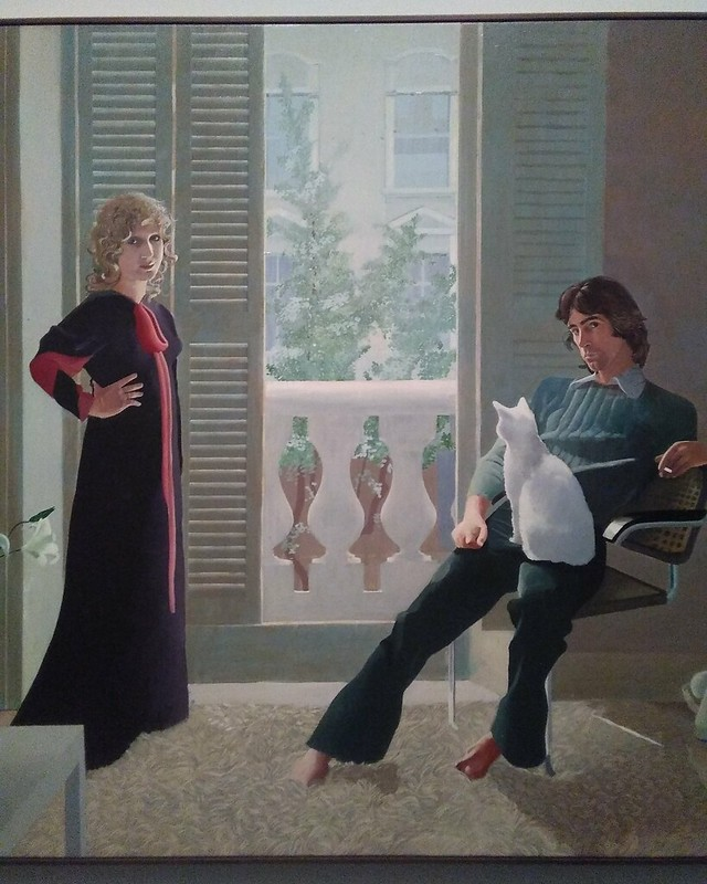 Detail, Mr. and Mrs. Clark and Percy (1970-1971) #newyorkcity #newyork #manhattan #metmuseum #davidhockney #hockney #ossieclark #celiabirtwell #latergram