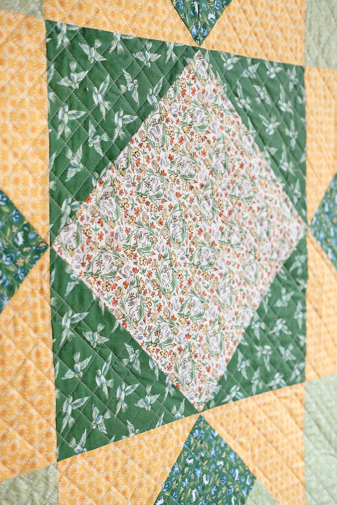 April Giant Block Quilt