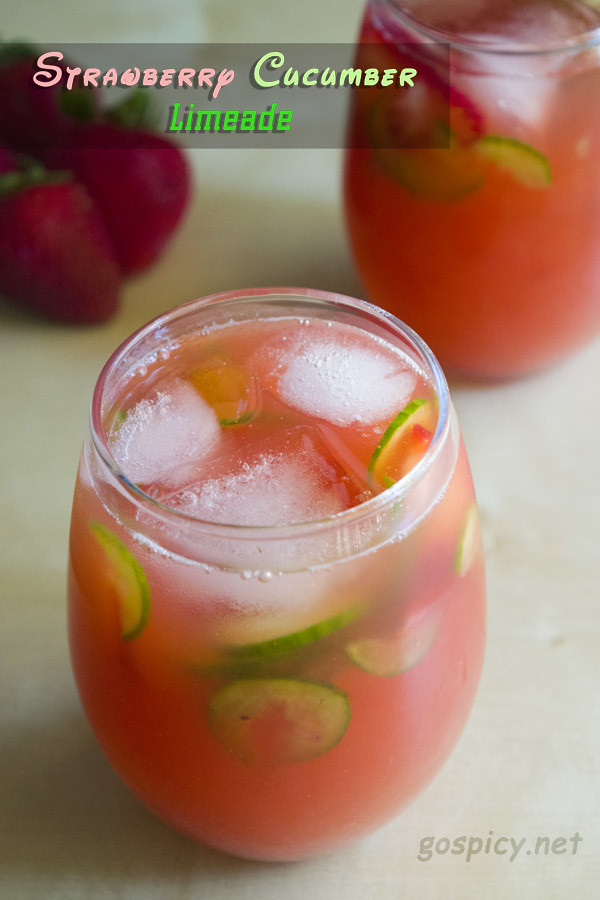 Strawberry Cucumber Limeade Recipe by GoSpicy.net