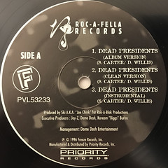 JAY-Z:DEAD PRESIDENTS(LABEL SIDE-A)