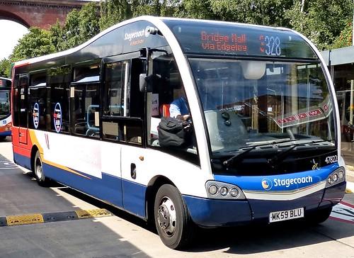 MK59 BLU 'Stagecoach Manchester' No. 47822. Optare M890 Solo SR on 'Dennis Basford's railsroadsrunways.blogspot.co.uk'