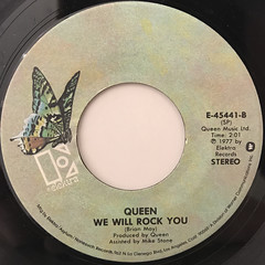 QUEEN:WE ARE THE CHAMPIONS(LABEL SIDE-B)