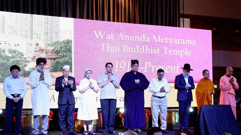 Tokoh lintas agama di Perayaan 100 Tahun Vihara Ananda Metyarama Singapura.
