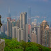 View of Hong Kong Skyline and Harbour from the Lion's Pavilion at Victoria Peak - Hong Kong