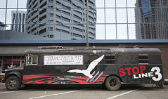 Stop the Line 3 oil pipeline bus