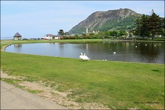 The boating pond at Llanfairfechan