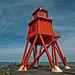 Herd Groyne Lighthouse, South Shields, UK