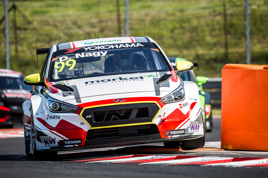 99 NAGY Daniel (HUN), M1RA, Hyundai i 30 N TCR, action during the 2018 FIA WTCR World Touring Car cup, Race of Hungary at hungaroring, Budapest from april 27 to 29 - Photo Thomas Fenetre / DPPI