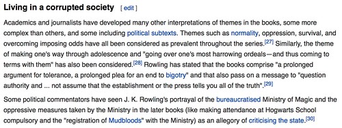 J K Rowling on Wikipedia