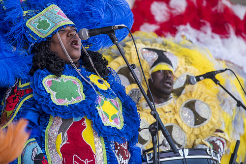 Creole Wild West perform at Jazz Fest day 2 on April 28, 2018. Photo by Ryan Hodgson-Rigsbee