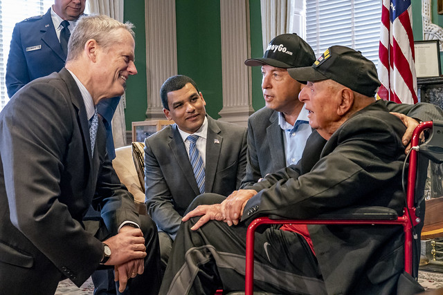 Governor Baker Meets with World War II Veteran Sidney Walton 04.30.18