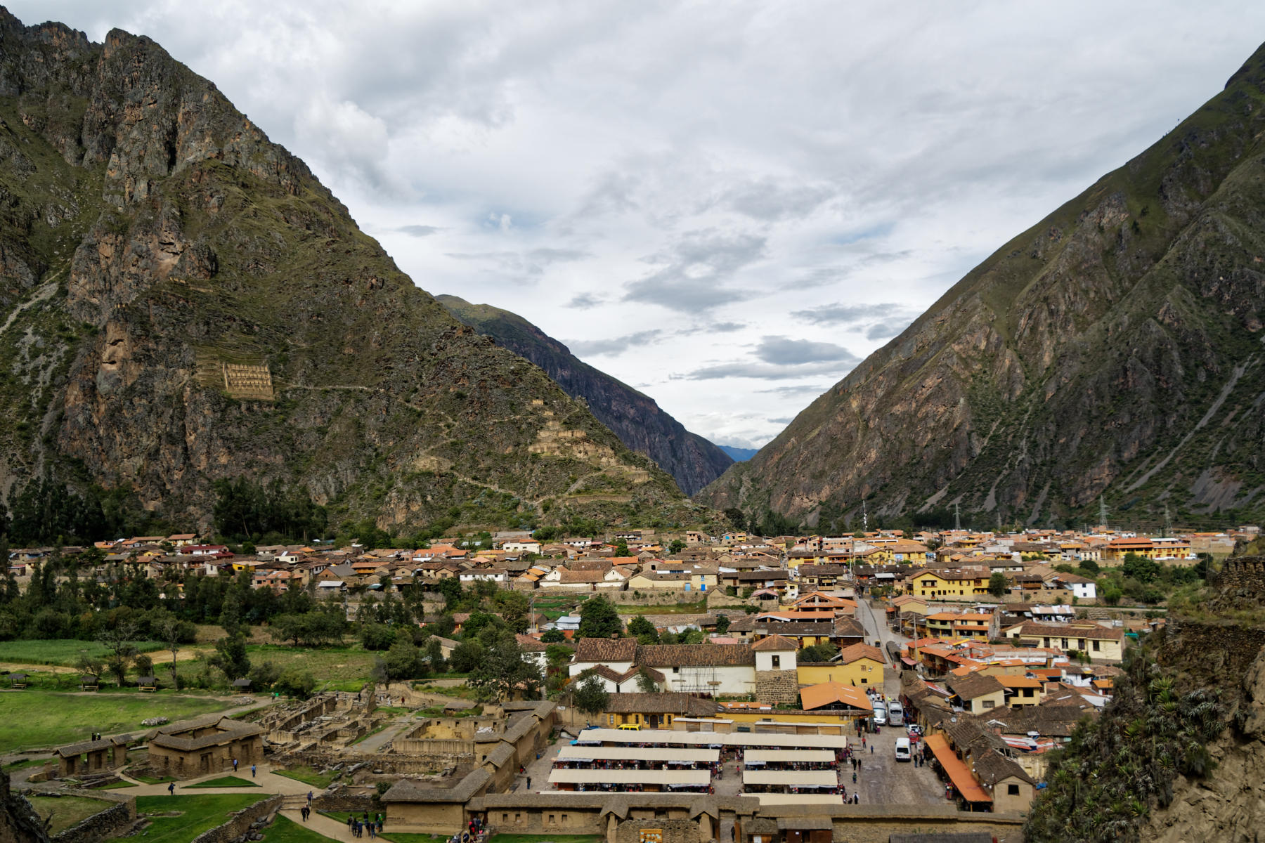 Ollantaytambo seen from the Temple
