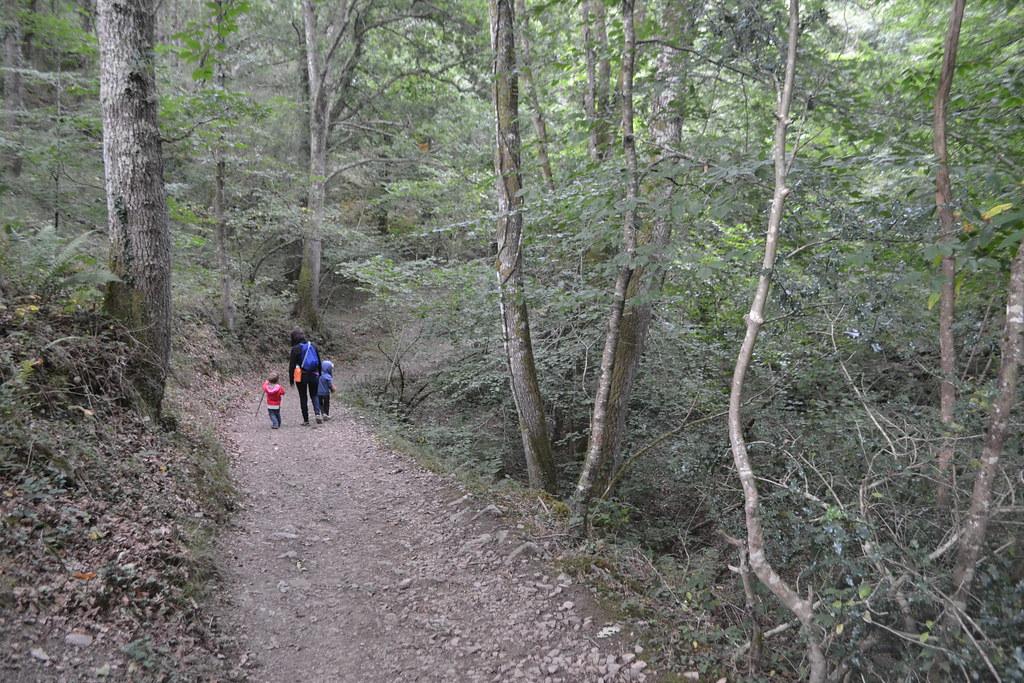 cascadas de lamiña sendero