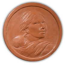 Sacagawea dollar terra cotta model