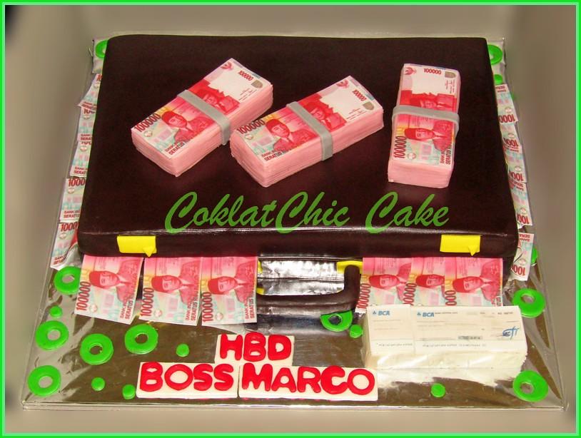 Cake Koper Uang BOSS MARCO 20 cm