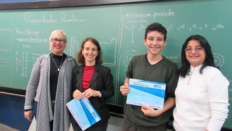 Estudante certificado Olimp. Brasileira de Matemática - Colégio Metodista Rib. Preto