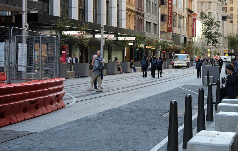 George Street, Sydney - light rail under construction