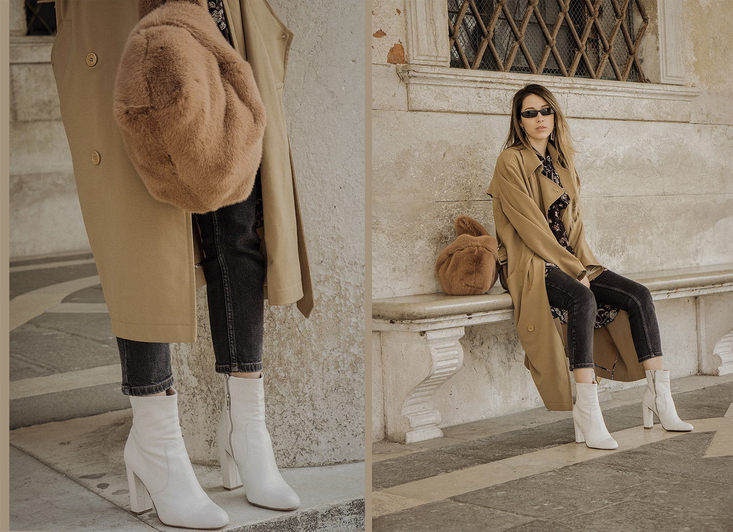 trench_coat_white_boots_dress_with_jeans_venice_italy_fur_bag_fashion_lenajuice_thewhiteocean_08