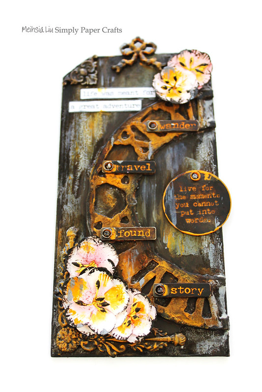 Meihsia Liu Simply Paper Crafts Mixed Media Tag Time Out Simon Says Stamp Tim Holtz 2